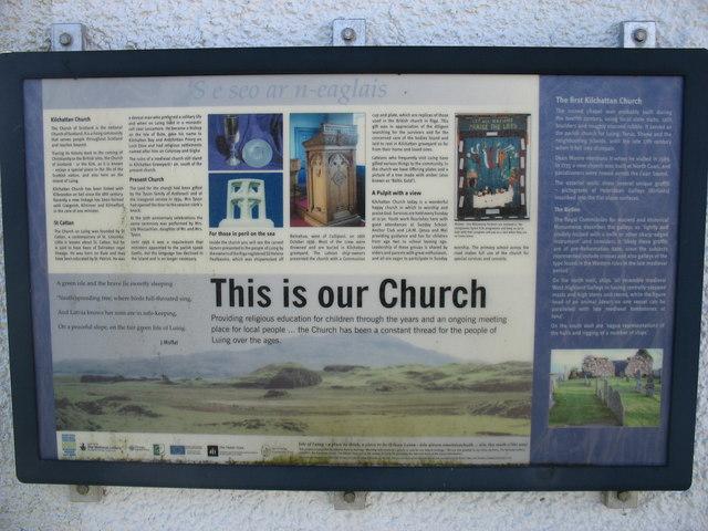 Kilchattan Church notice
