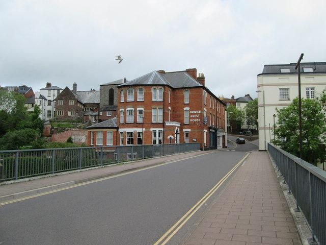Bridge  Street  over  Exe  Bridge  Tiverton