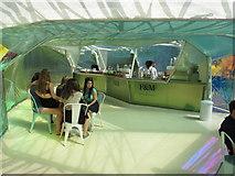 TQ2679 : Serpentine Gallery Pavilion 2015 - coffee bar by David Hawgood
