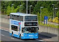 J3775 : Tall ships shuttle bus, Sydenham bypass, Belfast (July 2015) by Albert Bridge
