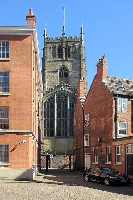 The Lace Market: Commerce Square and St Mary's Church