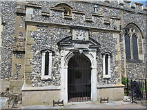 TL3706 : The Church of St. Augustine, Broxbourne - porch by Mike Quinn