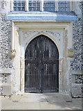 TL3706 : The Church of St. Augustine, Broxbourne - west door by Mike Quinn