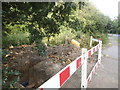 TQ2196 : New underground pipes on Rowley Lane by David Howard