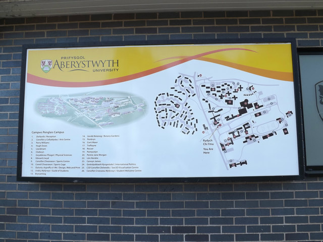 Aberystwyth University site map