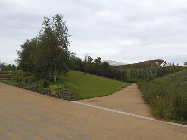 Side path in the Olympic Park