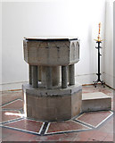 TL4731 : St Mary & St Clement, Clavering - Font by John Salmon