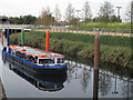 TQ3784 : Pleasure boat on the River Lea (1) by Stephen Craven