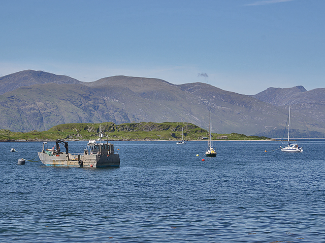 Boats anchored off Port Appin