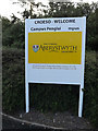 SN5982 : Aberystwyth University sign by Adrian Cable