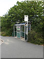 SN5981 : Bus Stop at Aberystwyth University by Adrian Cable