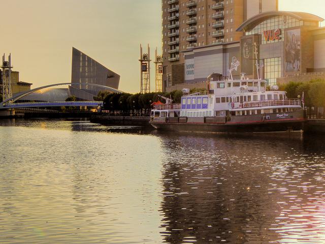 MV Royal Iris of Merseyside Moored at Salford Quays