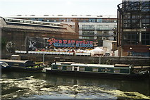 TQ3783 : View of Swan Wharf from the footbridge next to Old Ford Lock by Robert Lamb