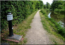SK0418 : Trent & Mersey Canal milepost in Rugeley by Mat Fascione
