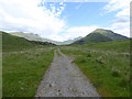 NM7999 : Path junction in Inverie Glen by Oliver Dixon