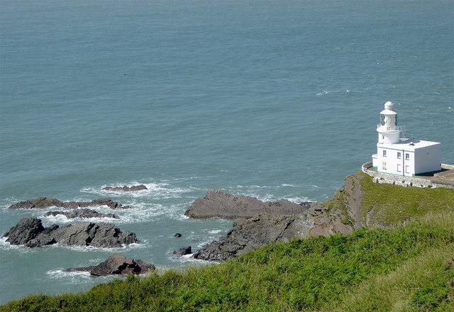 Rocky shoreline at Hartland Point, Devon