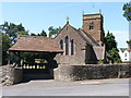 SO7362 : All Saints' Church in Shelsley Beauchamp with lych gate by Jeff Gogarty