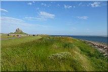 NU1341 : Castle and coast by DS Pugh