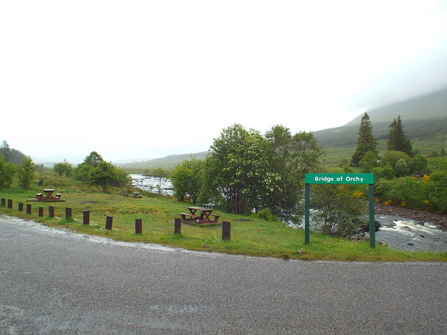 Picnic site at Bridge of Orchy