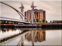 SJ8097 : The Lowry Bridge and Quay West by David Dixon