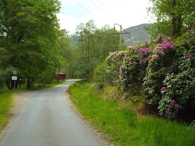 Minor road at Glenfinnan