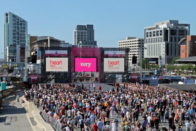 Very Big Catwalk event, Pier Head, Liverpool