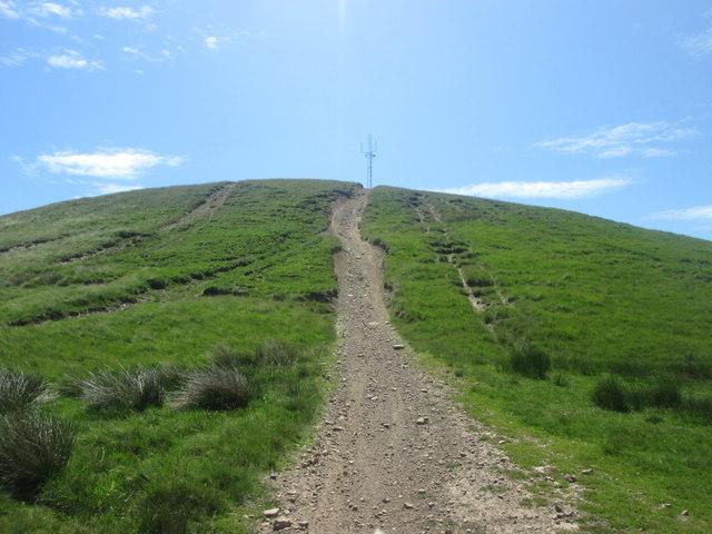 Motor bike track to Hunger Hill