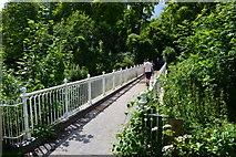 TQ2652 : Footbridge over the A217 by David Martin