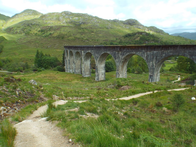 Path at Glenfinnan viaduct