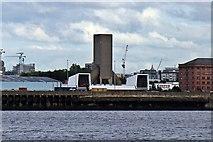 SJ3391 : Kingsway road tunnel ventilation tower, Liverpool by El Pollock