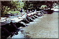 SS8632 : Tarr Steps and ford, 1981 by Nigel Thompson