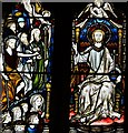 TQ0216 : Coldwaltham: St. Giles' church: Part of the east window above the altar by Michael Garlick