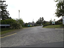 SN5981 : Aberystwyth Science Park entrance by Adrian Cable