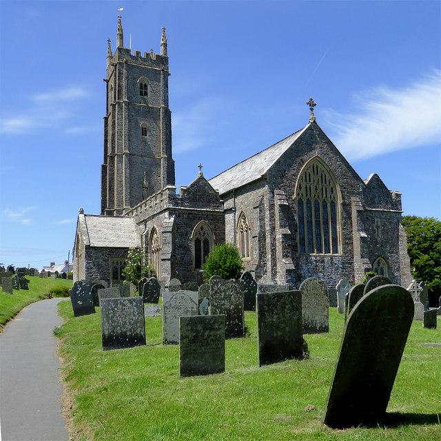 The Church of St Nectan in Stoke near Hartland, Devon