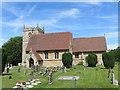SK8354 : All Saints Church at Coddington by Peter Wood
