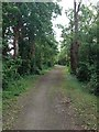 TL4351 : Bridleway leaving Harston by Dave Thompson