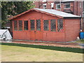 SE3419 : Brookhouse Bowls Pavilion - Barnsley Road by Betty Longbottom