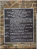 TQ9220 : Rye: the water tower plaque by Chris Downer