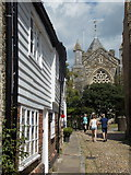 TQ9220 : Rye: West Street arrives onto Church Square by Chris Downer