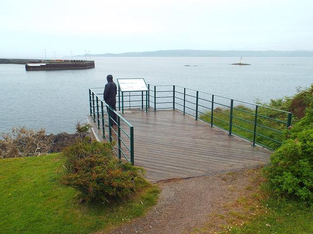 Viewpoint at Mallaig Harbour