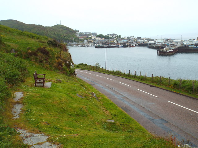 View over Mallaig Harbour