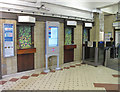 TQ2878 : Sloane Square tube station ticket office permanently closed by David Hawgood