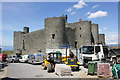 SH5831 : Harlech Castle - the work continues by Jeff Buck
