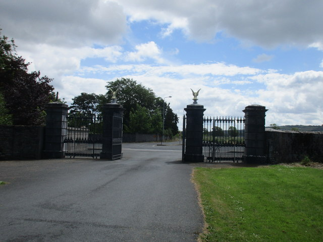 The entrance gates to Mount St. Bernard Abbey and Roscrea College