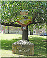 TF8725 : The Raynhams village sign by Adrian S Pye