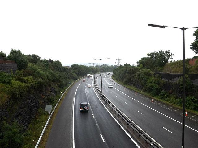 M4 Motorway at Skewen