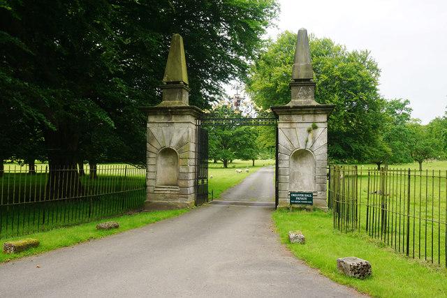 Gates to Okeover Hall