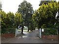 SS7196 : Coedffranc Cemetery entrance, Skewen by Geographer