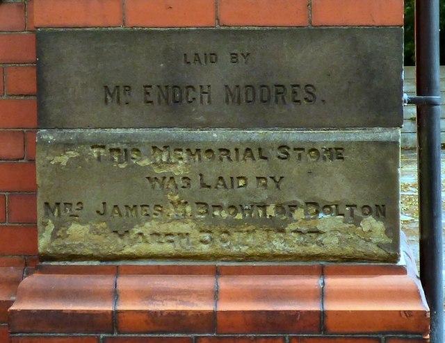 Memorial Stones on Haughton Green Sunday School