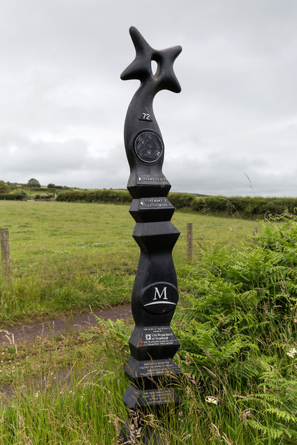 Millennium Milepost on National Cycle Route 72